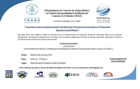 Evento sobre la importancia de implementar el Operador Economico en El Salvador