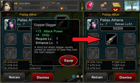 how to equip