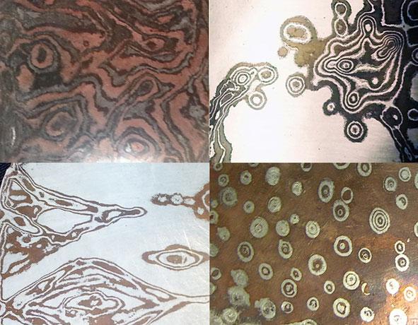 Mehrfarbige Ringe aus verschiedenen Edelmetallen angefertigt