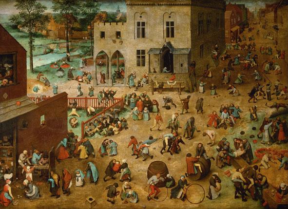 《子どもたちの遊び》1560年
