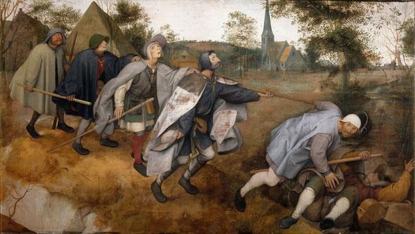 《盲人が盲人を導く》,1568年