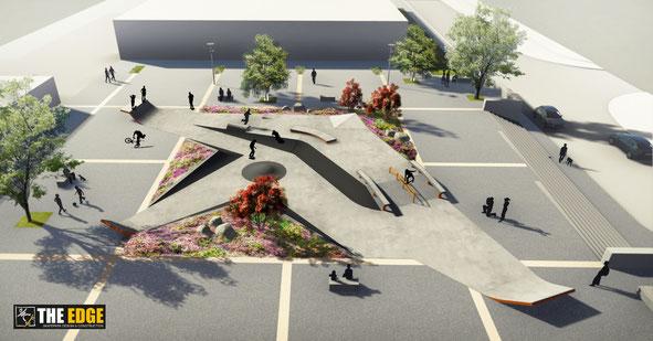 THE EDGE Skatepark Design & construction - Skatepark béton Plouguerneau