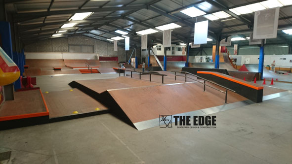 THE EDGE Skatepark Design & construction - Skatepark Le Hangar Nante