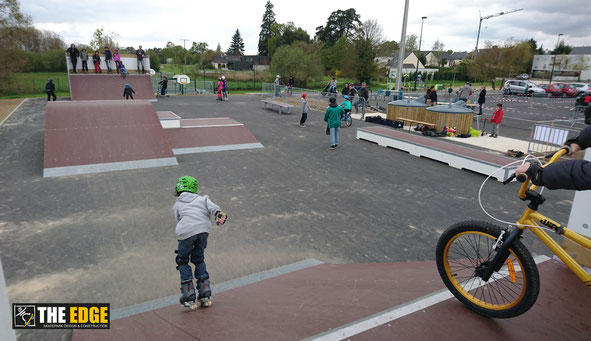 THE EDGE Skatepark Design & construction - Inauguration Skatepark de Servon sur Vilaine