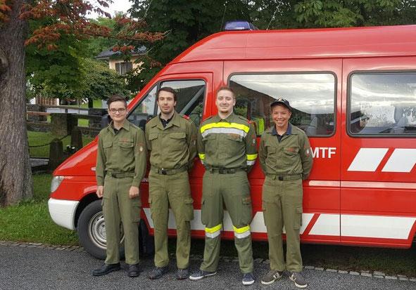 FF Hainersdorf bei der Funk-Abschnittsübung in Großhartmannsdorf. Nicht im Bild: Der Funkbeauftragte.
