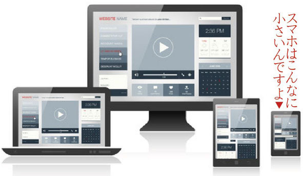 パソコン.タブレット.スマートフォンの画面の比較