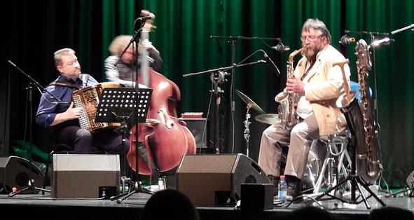 Total Trio + Daniel Pagliarini am 12. Febr. 2019 im Alten Stadthaus in Differdingen (Foto: Theophil Schweicher)