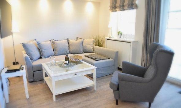 »Lachmöwe« ist eingerichtet im lässig-eleganten Sylter Beachhouse-Style