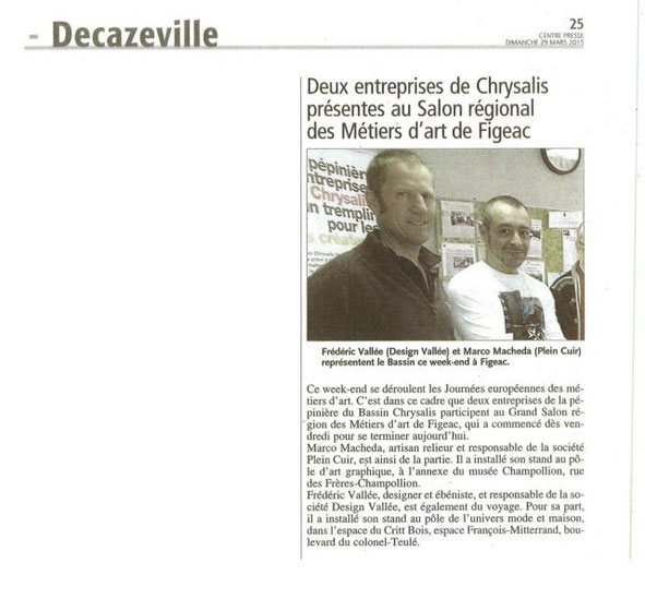 Article Centre-Presse du 29 mars 2015