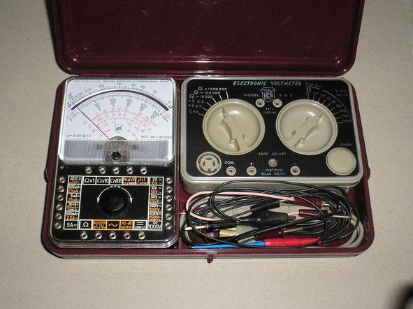 I C E Milano - Italien - Transistor – Voltmeter Modell 660 B im Set mit 680 E  Messgerät. - Fertigungsjahr 1966