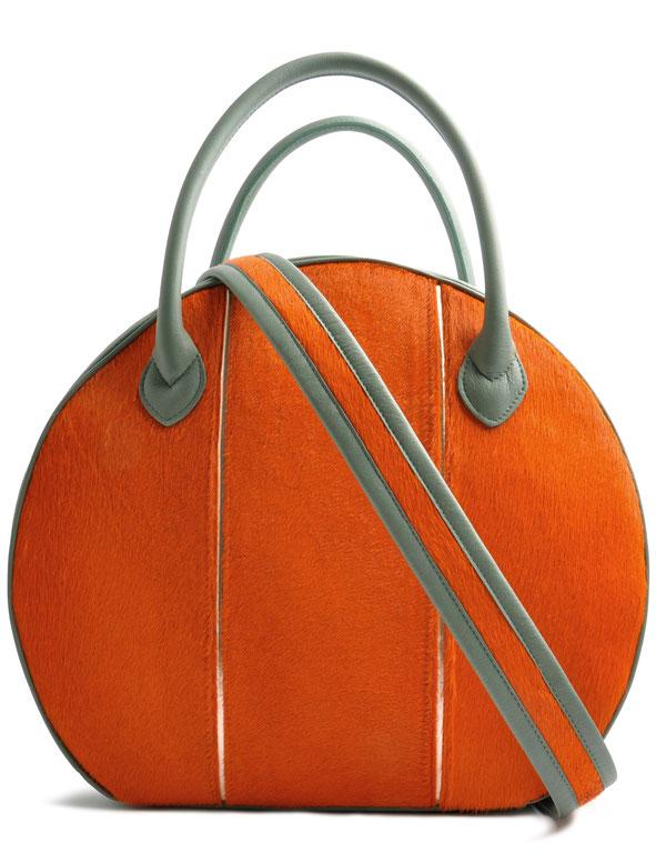 OSTWALD Bags . BUBBLE Tote . Handbag . Leather Mulitcolour terracotta . black . white
