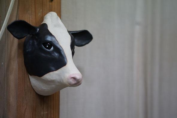 仲本律子 陶芸作家 ブログ 女性陶芸家 茨城県笠間市  陶器 牛 牛の土面