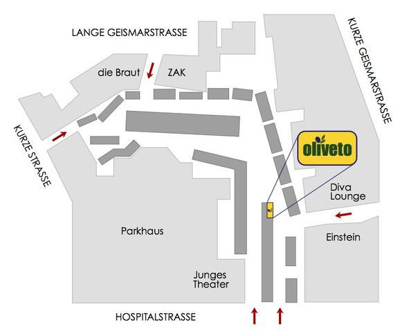 Lageplan Göttinger Wochenmarkt