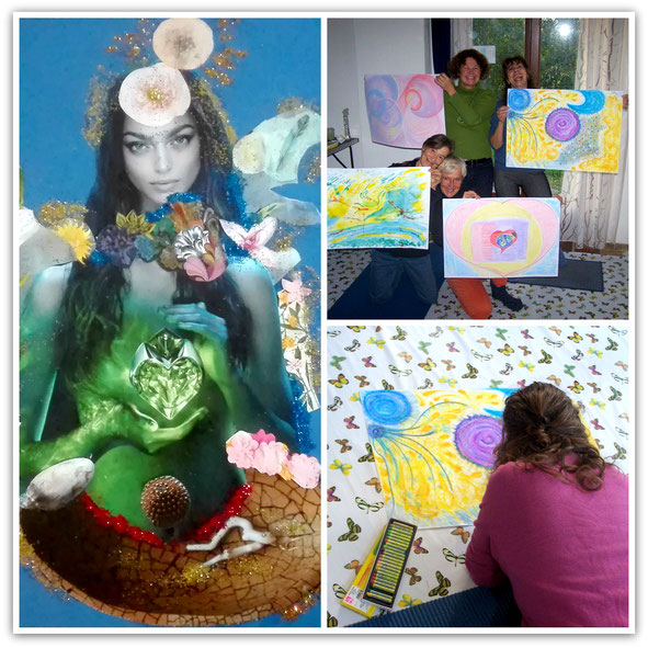 Examples of art created by participants in my Sparks of Wonder Program
