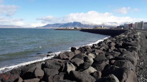 In Reykjavik am Atlantik