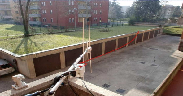 Installazione a casa EFHWA per 40m band