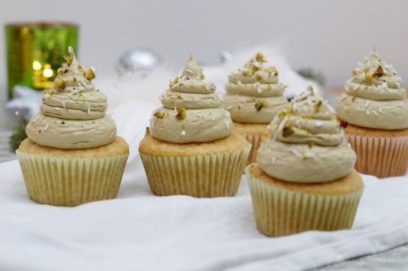 Kokos-Pistazien-Cupcakes