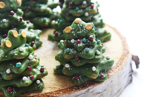 3D-Plätzchen-Weihnachtsbäume