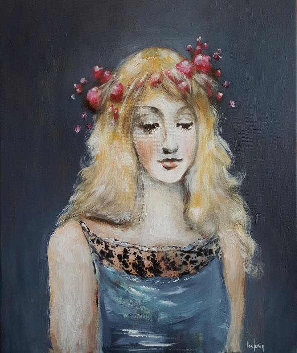 bernadette leclercq portrait art peintre tours tableau