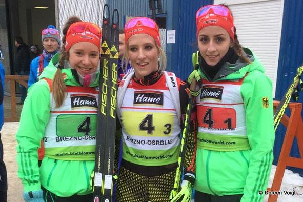 Sophia Schneider, Anna Weidel und Vanessa Voigt