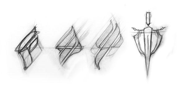 """Дизайн логотипа, Различные варианты написания стилизованной буквы """"Ф"""""""