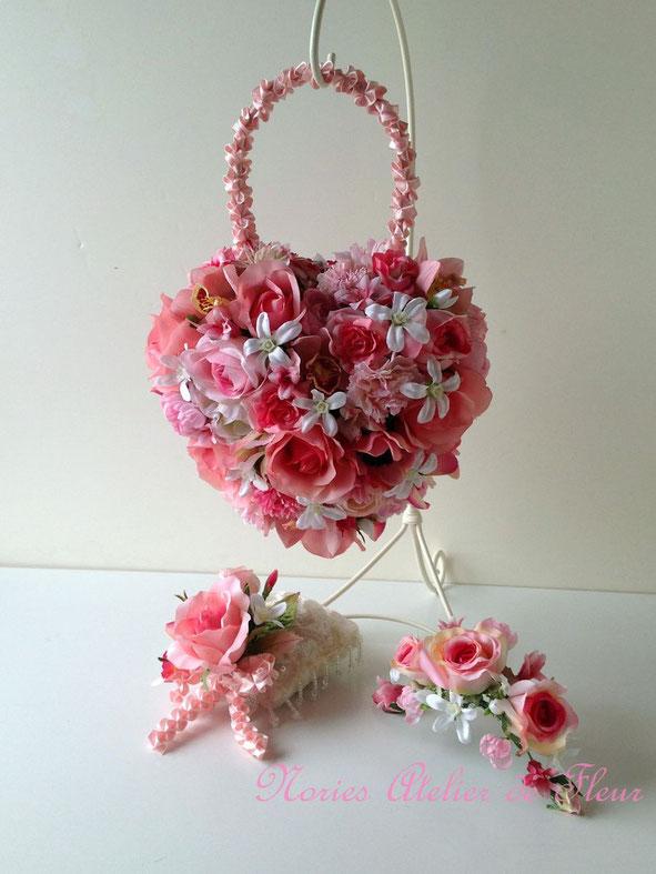 Hearty ハーティ アーティフィシャルフラワーのバッグ型ブーケ