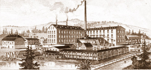 Bild:  Alte Seifertmühle Wünschendorf Erzgebirge 1900