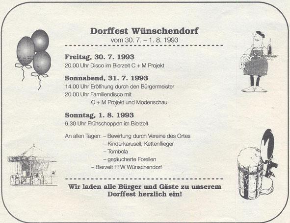 Bild: Dorffest 1993 Wünschendorf Erzgebirge