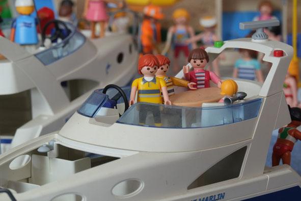 Boot Wasser Miniwelten Playmobil Lathen Ausstellung