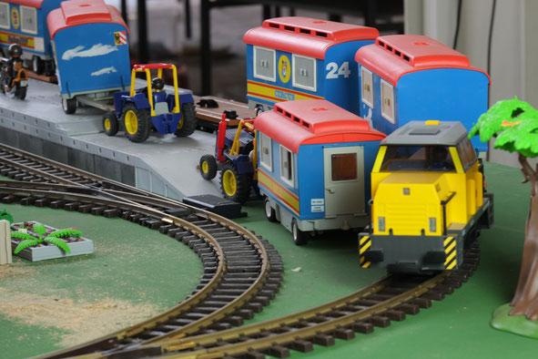 Eisenbahn Wagen Transport Miniwelten Playmobil Lathen Ausstellung
