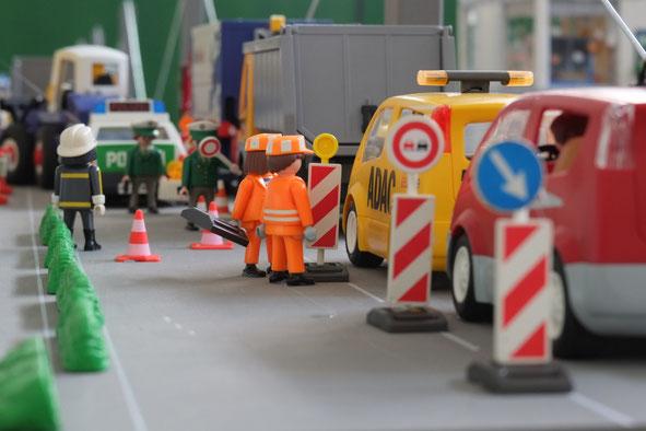 Autobahn baustelle ADAC Miniwelten Playmobil Lathen Ausstellung