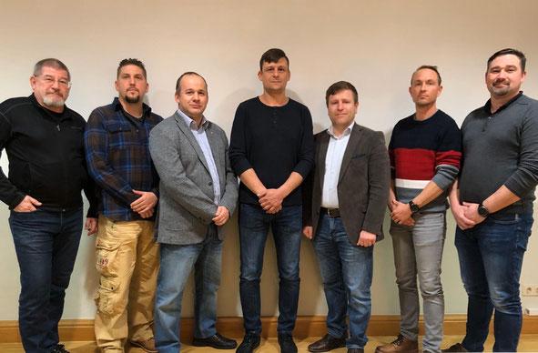 Vzlt Peischl Michael, StWm Kreutzer Christian, Vzlt Lang Alfred, OStWm Kitzler Roland, OStv Handler Jürgen, OStWm Stampfer Andreas und StWm Hürner Jürgen.