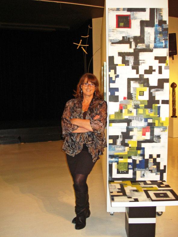 Réalisation d'une oeuvre grand format, rendez-Vous des Arts, Arto, 2012