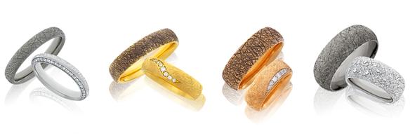 Handgefertigte Eheringe aus der Trauring-Kollektion Anniversary von der Goldschmiede OBSESSION Zürich und Wetzikon