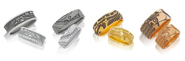 Handgefertigte Eheringe aus der Trauring-Kollektion Schatzring von der Goldschmiede OBSESSION Zürich und Wetzikon