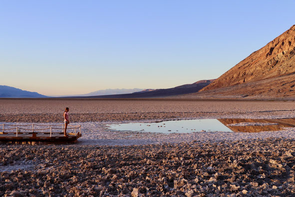 Ein Salz See am tiefsten Punkt Nordamerika's