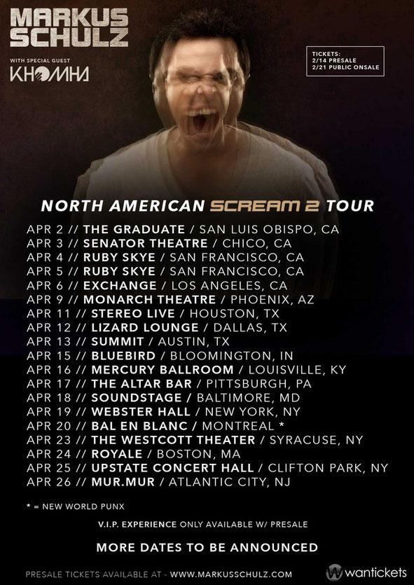 Markus Schulz | Scream 2 Tour