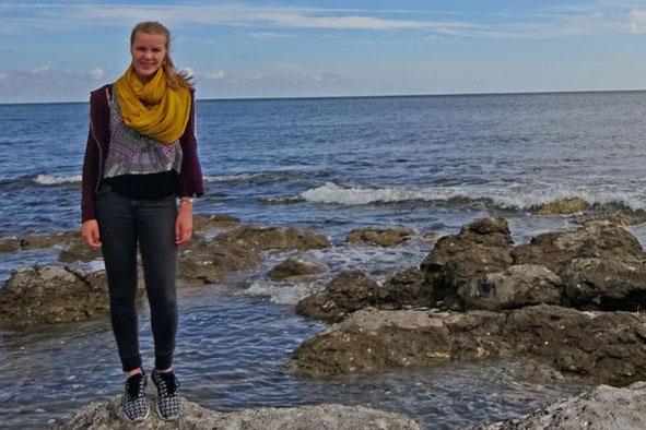 Lena Puscher auf Gotland.