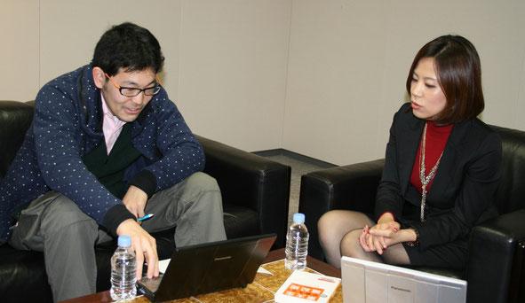 左:インタビューアー 開沼博さん 右:徳田和嘉子さん