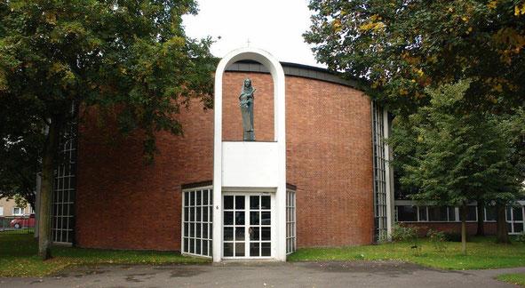 Gottfried Böhm, St. Theresia, Köln -Buchheim. Foto : (c) Monika Schmelzer