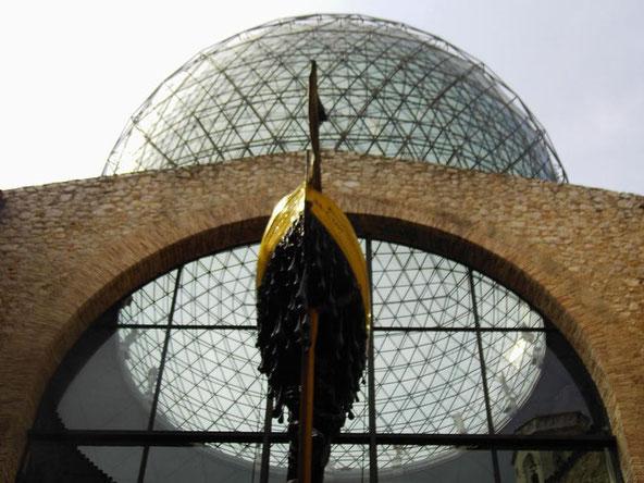 ガラスのジオデシック・ドームの頭頂部。