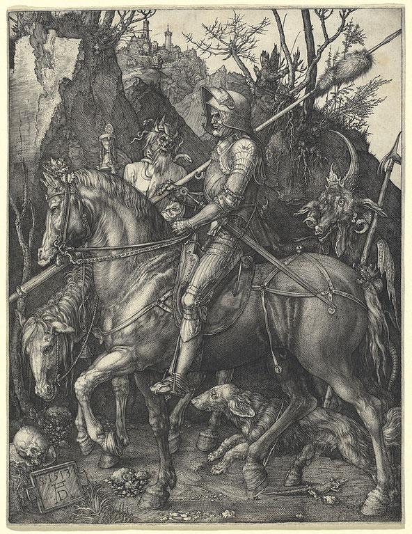 《騎士、死、悪魔》,1513年