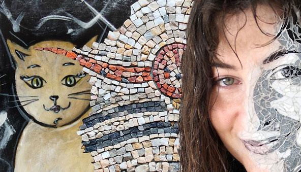 Isabelle Schaller - IS CREATION - Artiste plasticienne - Mosaïque - Peinture  #Mosaïque, #mosaïste, #peinture, #art, #artiste, #Savoie, #Aix les Bains