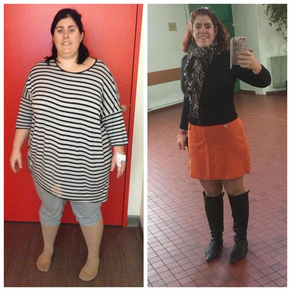 a-gauche-sylvie-obese-en-tenue-ample-a-droite-sylvie-mince-en-jupe-rouge-et-botte-noire-tres-feminine-avec-un-grand-sourire