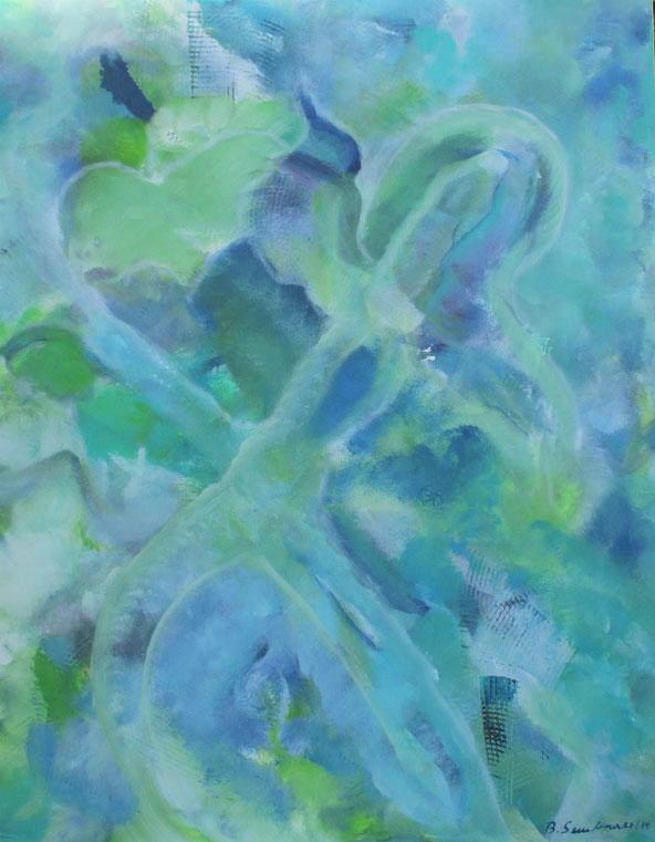 Visionelle Kunst - Britta Sembowski - DU MUSST DICH NICHT VERBIEGEN - Spirituelle Kunst - Acrylmalerei - Unikat kaufen - you need not bend yourself