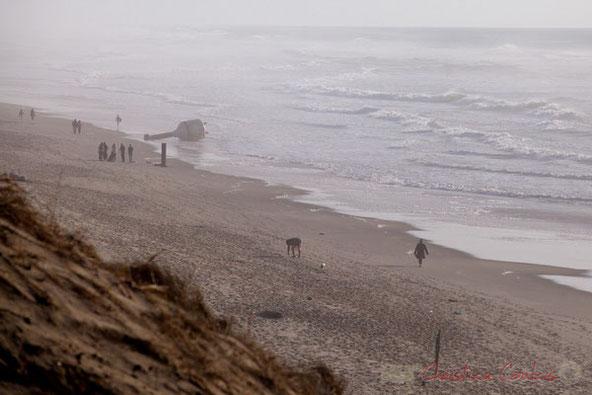 """""""Presque seul-e(s) au monde"""". Biscarrosse océan, plage du Vivier, Landes. 21 février 2016"""