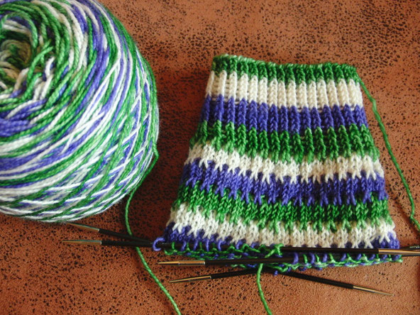 Knitterly Things Vesper Sock in 'Candy Swirl'
