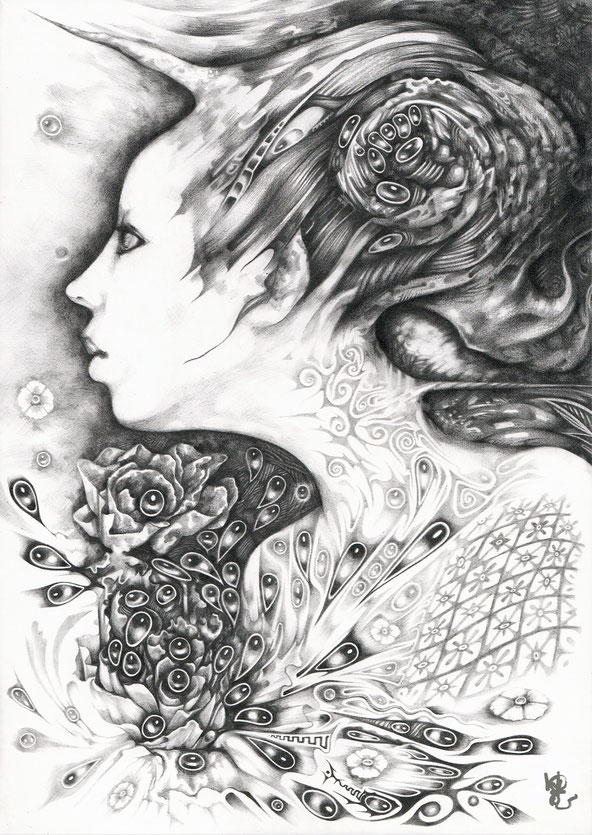 the fairy / pencil on paperbord    size / A4