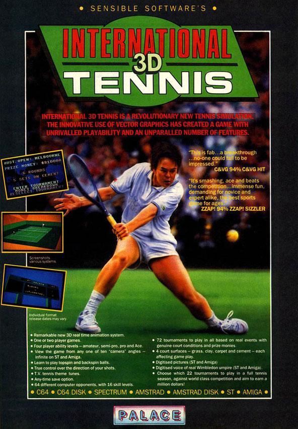 International 3D Tennis Covers (Amiga)