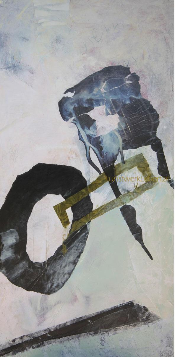 GEGENSÄTZE, Acryl auf Leinwand, 50cm breit x 100cm hoch